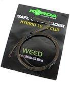 Korda - End Tackle Hybrid Lead Clip Leader - Weed - Korda