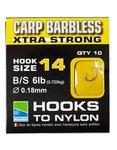 Onderlijnen Barbless Carp Xtra Strong Hooks To Nylon - Preston