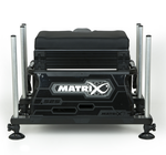 Station S25 super box BLACK inc 1 x shallow trays & lid - Matrix