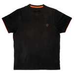 T-Shirt Black / Orange Brushed Cotton T - Fox Carp