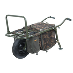 Trolley FX Explorer Barrow and Camo Lite Bag inc 2 straps & mesh bags - Fox Carp