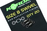 End Tackle Wartel Swivels Size 8 - Korda