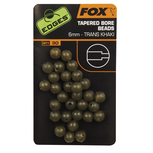 End Tackle Edges 4mm Tapered Bore Beads - trans khaki - Fox Carp