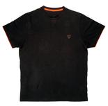 T-Shirt Black / Orange Brushed Cotton T - Fox Carp