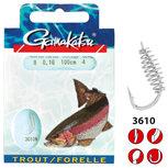 Gamakatsu - Onderlijn Hook Trout Spiral 100cm - Gamakatsu