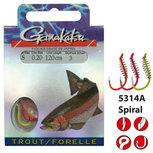 Gamakatsu - Onderlijn Hook BKD Trout Spiral 120cm - Gamakatsu