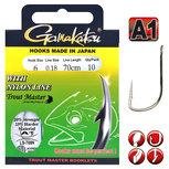 Gamakatsu - Onderlijn Trout Master 708N Nylon 120cm - Gamakatsu