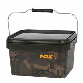 Emmer Camo Square Bucket - Fox Carp