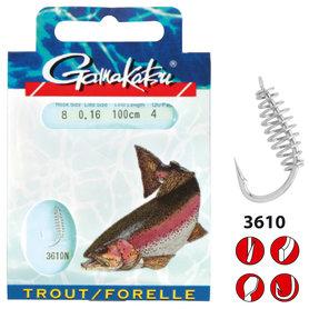 Gamakatsu - Onderlijn Hook Trout Spiral 60cm - Gamakatsu