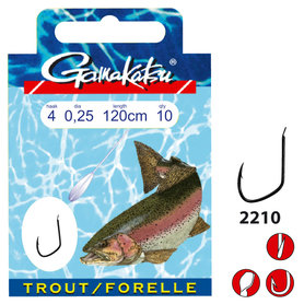Gamakatsu - Onderlijn Hook BKD Trout 120cm - Gamakatsu
