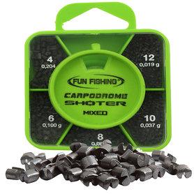 Fun Fishing - Lood Shoter Box - MIXED  - Plombs N°4 - 6 - 8 - 10 - 12 - Fun Fishing