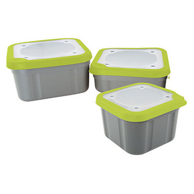 Matrix - Aasbox Matrix grey/lime bait box SOLID TOP - Matrix