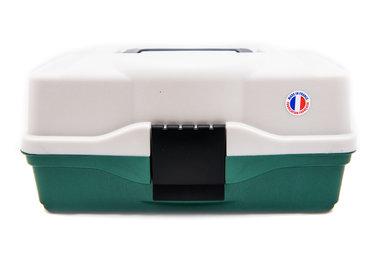Opbergbox Tacklebox populaire 1 tray olijfgroen - Elite