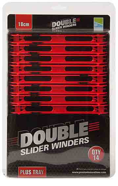 Lijnlatten Double Slider Winders 18Cm Red  - Preston