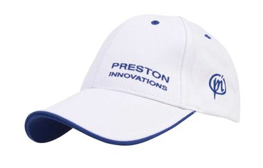 Pet White Cap - With Blue Trim  Bo - Preston