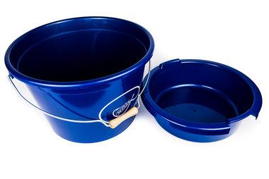Emmer 25lt metaal blauw - Elite