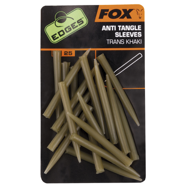 End Tackle Edges Anti Tangle Sleeves x 25 - trans khaki - Fox Carp