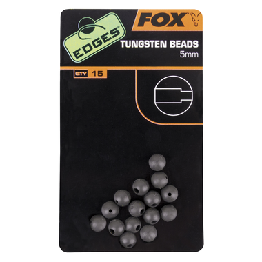 End Tackle Edges 5mm Tungsten Beads x 15 - Fox Carp