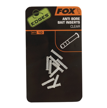 End Tackle Edges Anti-bore Bait Inserts clear - Fox Carp