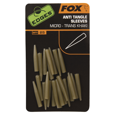 End Tackle Edges Anti-tangle Sleeve Micro - trans khaki - Fox Carp