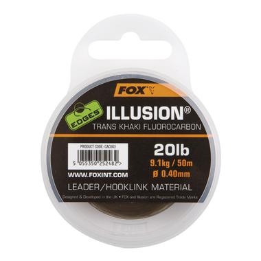 Lijn Fluorocarbon Edges Illusion Flurocarbon Leader - trans khaki - Fox Carp