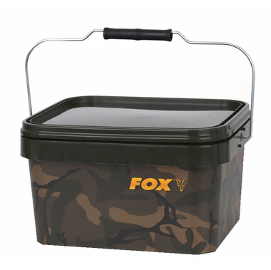 Emmer Camo Square Bucket - Fox Carp