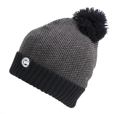 Muts Chunk Grey/Black Bobble Hat - Fox Carp
