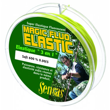 Volle elastiek Magic Fluo Elastic Soft 600 1,6 (25M) - Sensas