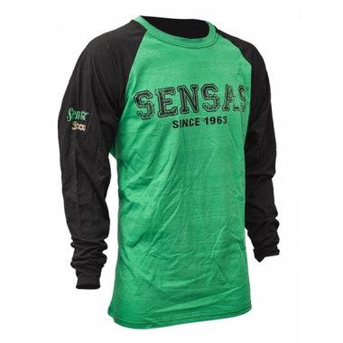 T-Shirt Lange Mouw Groen & Zwart - Sensas