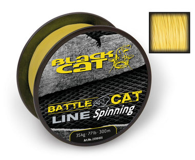 Lijn Gevlochten  Battle Cat Line Spinning Geel 300m - Black Cat
