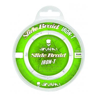 Gunki - Lijn gevlochten Slide Braid Iron-T 120 Fluo Green - Gunki