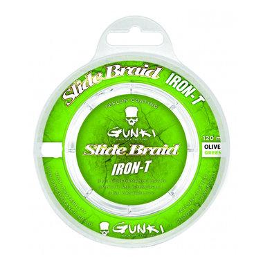 Gunki - Lijn gevlochten Slide Braid Iron-T 120 Olive Green - Gunki