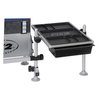 Fix 2 - Zitmand accessoire FCS tafel 540x350 mm met 2 uitschuifbare bakjes - Fix 2