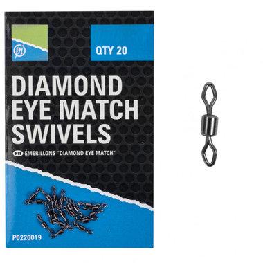 Preston - Wartels Diamond Eye Match Swivels - Preston