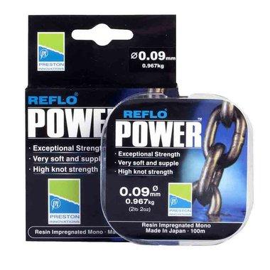 Preston - Lijn nylon Reflo Power Max Reel Line Clear 100m - Preston