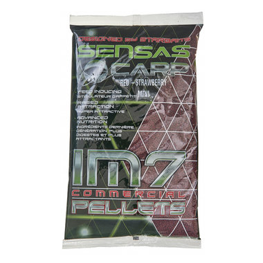 Pellets Im7 Extruded Pellets Red-Strawberry-6Mm - Sensas