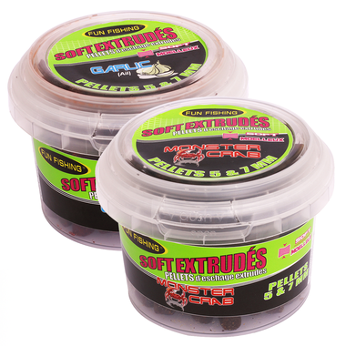 Fun Fishing - Pellets Soft Extrudés Pellets - 130gr - 5 & 7  mm - Fun Fishing
