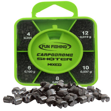 Fun Fishing - Lood Shoter Box - MIXED  - Plombs N°4 - 6 - 8 - 10 - 12 - Fun Fishing