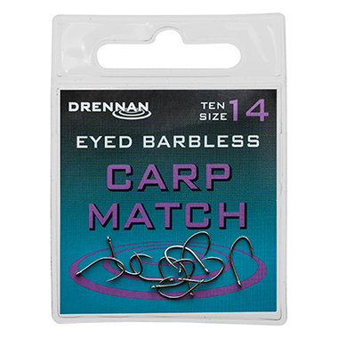 Drennan - Haken Eyed Barbless Carp Match - Drennan