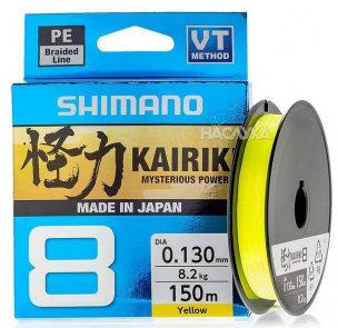 Shimano - Lijn gevlochten Kairiki Yellow - 150m - Shimano