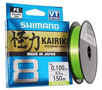 Shimano - Lijn gevlochten Kairiki Mantis Green - 150m - Shimano