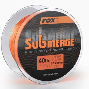 Fox Carp - Lijn gevlochten Submerge bright orange sinking braid - 40lb - Fox Carp