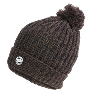 Muts Chunk Camo Heavy Knit Bobble Hat - Fox Carp