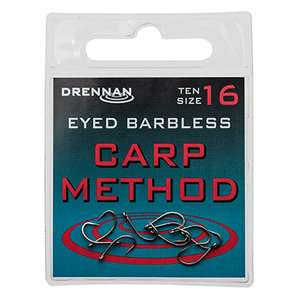 Drennan - Haken Eyed Barbless Carp Method - Drennan