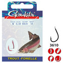 Gamakatsu-Onderlijn-Hook-BKD-Trout-75cm-Gamakatsu