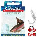 Gamakatsu-Onderlijn-Hook-Trout-Spiral-60cm-Gamakatsu